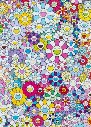 Champagne Supernova: Multicolor+Pink and White Stripes