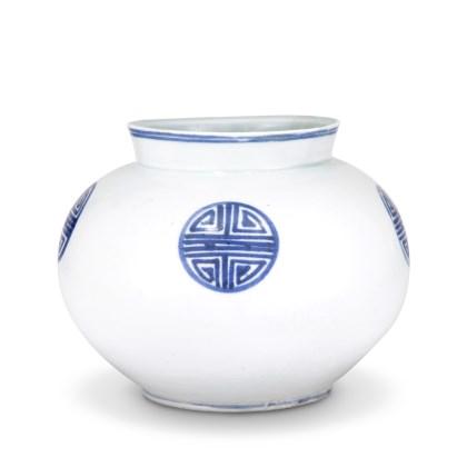 백자청화수자문호 白磁靑畵壽字文壺