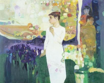 꽃그림자와 여인