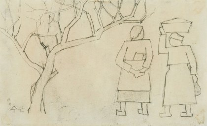 Two Women by a Tree