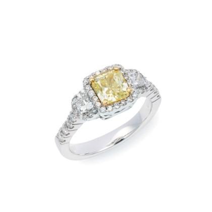 1ct Yellow Diamond Ring