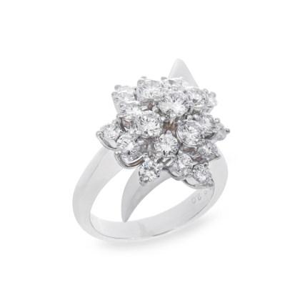 Diamond Dahlia Ring