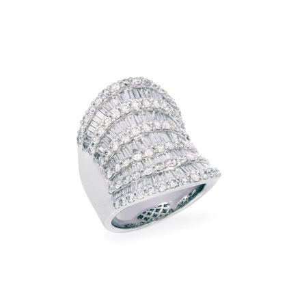 Diamond Roman Ring