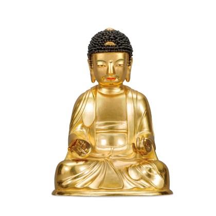 Wooden Seated Amitabha Buddha