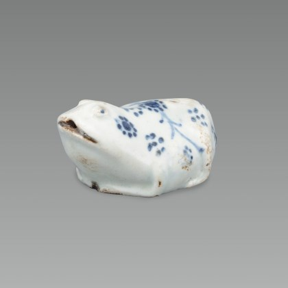 White Porcelain Toad-shaped Water Dropper