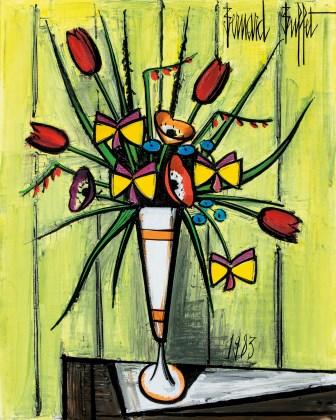 Bouquet dans un mazagran