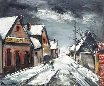 Rue de Village Sous la Neige