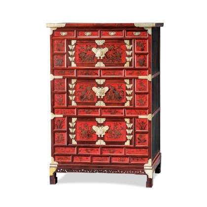 Three Tiered Chest with Painting